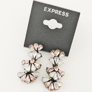 Express ethereal pink blue pastel drop earrings